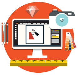 web-design-and-development-orange-circle